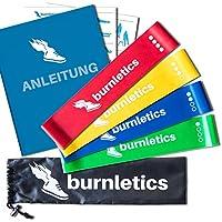 burnletics® Fitnessbänder 4er Set mit Tasche + Anleitung
