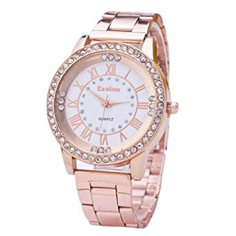 Gorday Watches for Women On Sale Clearance,Women Crystal Analog Quartz Watch Fashion Wrist Watch Casual Business Bracelet Watches Gift,Round Dial Case ...