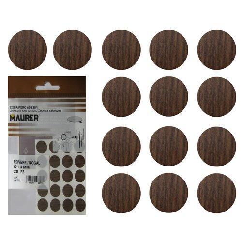 Maurer 5440116 Tapatornillos Adhesivos Nogal (Blister 20 Unidades), Set Piezas: Amazon.es: Bricolaje y herramientas