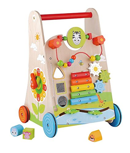 Amazon.com: Sun Baby SunBabyE01.042.1.1 Wooden Walker, Multi ...