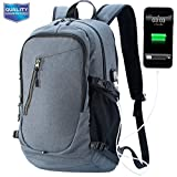 Laptop Backpack, Laptop Bags, Business Computer Bag with USB Charging Port, Travel Backpacks for Men, College School Bookbag, Water Resistant Anti-Theft Fits 17 inch Laptop, DarkGreen