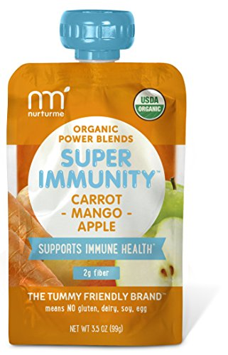 NurturMe Power Blends Organic Baby Food Pouch, Carrot + Mango + Apple, 3.5 Ounce (Pack of 6)