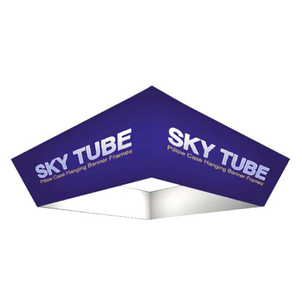Sky Tube Tapered Square Hanging Banners 8 x 3' Print With Hardware