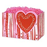 Large Swirly Hearts Basket Boxes - 10 1/4 x 6 x 7 1/2in. - 54 Pack