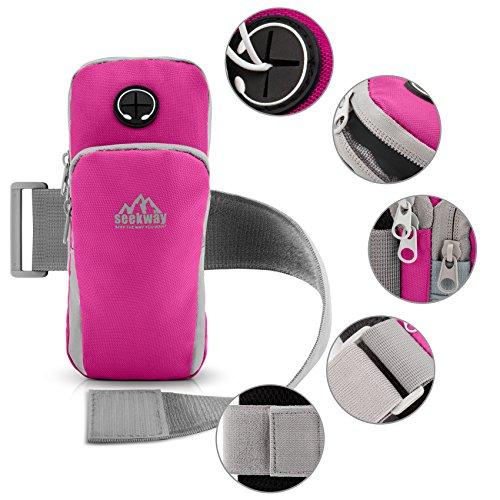SEEKWAY Armband Cellphone Pockets Earphone