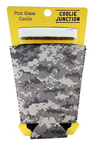 Coolie Junction Digital Camouflage Pattern Pint Glass (Coolie Glass)