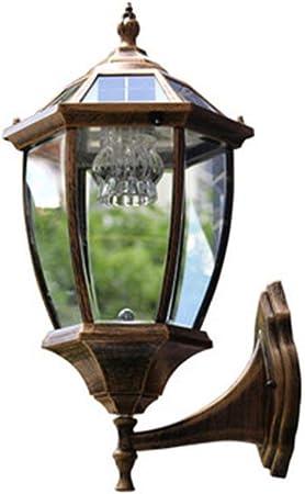 Zhong$chuang Aplique de Exterior Retro Vintage luz de jardín - Negro - Bombilla de filamento LED, Aplique de Pared Simple (Color : Bronze): Amazon.es: Hogar