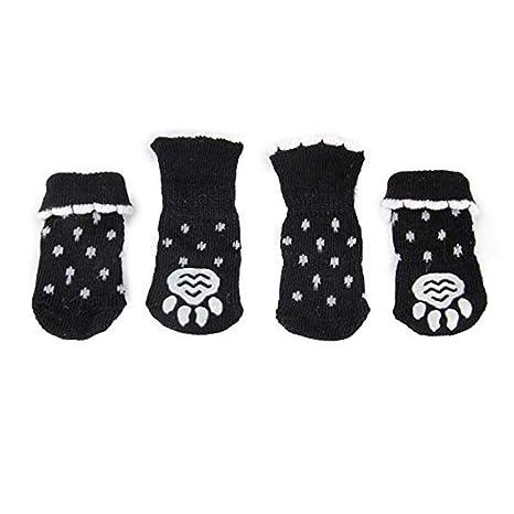 NaiCasy 4 PCS patín Calcetines Perro para los Suelos de parquet, Protección de la Pata