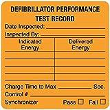 Defibrillator Performance Test Record, 1-1/2'' x 1-1/2''