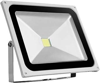 LTPAG Focos de Exterior, 50W 5000LM Ultrafino Foco LED Proyector ...