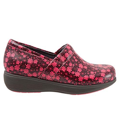 SoftWalk Women's Meredith Sport Clog,Black/Coral Floral,U...