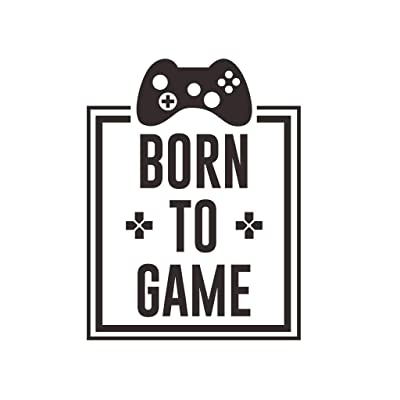 Born to Game Wall Decal, Boy Gamer Wall Stickers Murals, Vinyl Art Design Gamers World Wall Decor for Teen Kids Bedroom Playroom Home Decoration Wallpaper (BornToGame): Baby