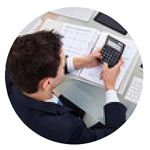 alfombrilla de ratón El hombre de negocios impuesto Cálculo - ronda - 20cm