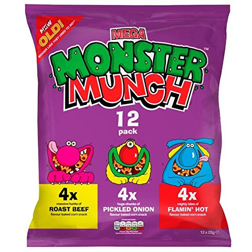 Walkers Monster Munch Variety Snacks 12 X 25G -