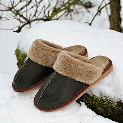 Pocahontas avec Marron Peau de pour Pantoufles Pantoufles Laine Dames Mouton Cuir Chaussures Chaussons Chaussures Hollert en xfInzAwqq