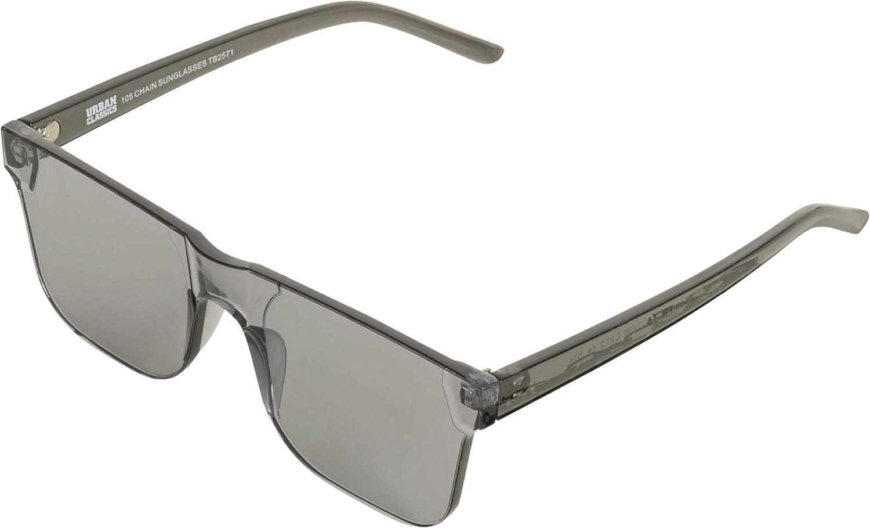 Black Transparent Noir Urban Classics mixte adulte 105 Chain Sunglasses Montures de lunettes