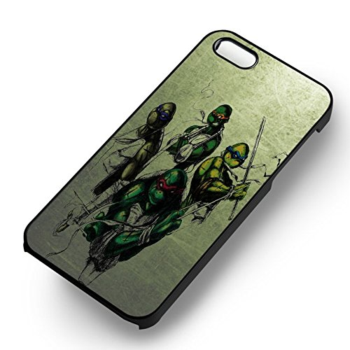TMNT Drawing Green Grunge pour Coque Iphone 6 et Coque Iphone 6s Case (Noir Boîtier en plastique dur) U4J5DI