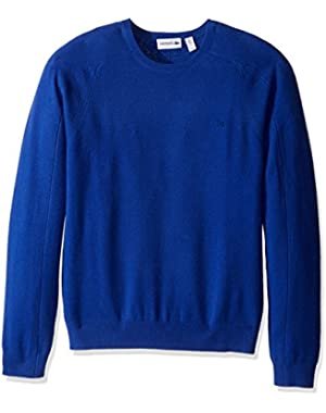 Men's 100% Cashmere Crewneck Sweater, AH1849-51, Steamship Blue