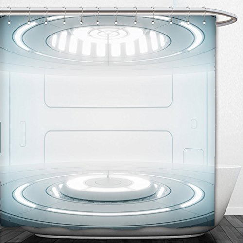 Interestlee Shower Curtain futuristic interior with empty stage modern future background technology sci fi hi tech concept 560927326 (Pch Canopy Bed)