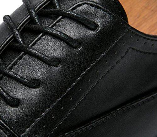 pour Chaussures Coupe Bas pour la Habillées Britanniques Chaussures Fête Banquet NBWE Mode Occasionnels brown Sculpté Hommes Chaussures WqCRnI7