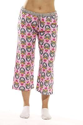 Just Love 100% Cotton Women Pajama Capri Pants Sleepwear