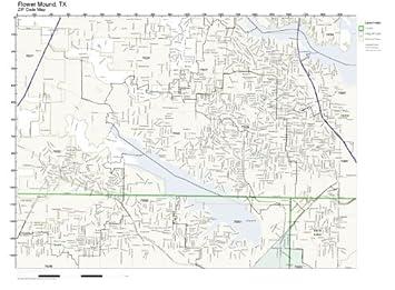 Flower Mound Zip Code Map.Amazon Com Zip Code Wall Map Of Flower Mound Tx Zip Code Map