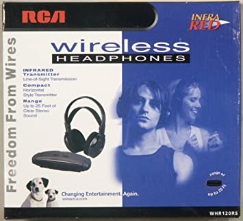 Amazon.com: RCA Whr120rs Stereo Infrared Wireless Headphones w ...