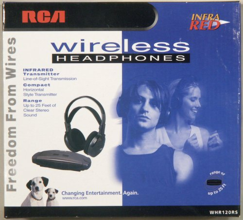 (RCA Whr120rs Stereo Infrared Wireless Headphones w/ Wide Angle)