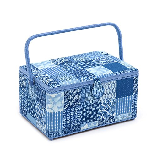 Hobby Gift 'Patchwork Denim' Extra Large Rectangle Sewing Box 20 x 39 x 26cm (d/w/h) by Hobby Gift
