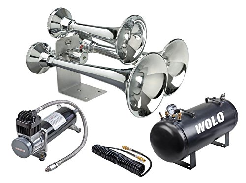 Wolo 837-860 Train Horn (Cannon Ball Express Pro Plus 12-V 152 Decibel Truck)