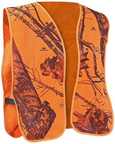 Mossy Oak Safety Vest, One Size, Blaze (Oak Blaze Mossy)