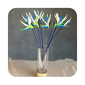 Artificial Fowers 5Pcs/Lot Bird of Paradise Orchids Bouquet Real Touch Wedding Flower Artificial Flower Floral Event Party 21
