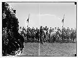 Photo: Emir Abdullah bodyguard on horses. (Pan Islamic conference)