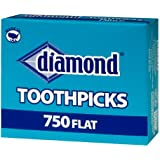 Diamond, Flat Toothpicks - 750 Count (pack of 3)