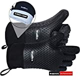 Walfos BBQ Grilling Gloves Best Versatile Heat Resistant Grill Gloves Silicone Oven Mitts
