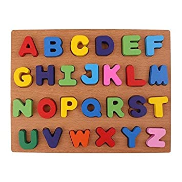 BabyGo Wooden Educational Identification Teaching Tray for with Knobs (Multi Color)