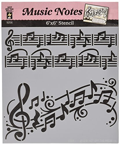 Hot Off The Press Music Notes Stencils, 6