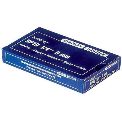 BOSTITCH Heftklammern Tackerklammern SP 19 1//4 6 mm verzinkt 5.000 Stück