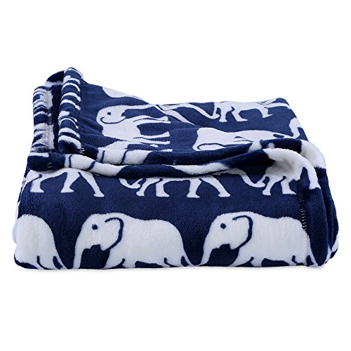 Berkshire Blanket, Velvetloft Elephant Plush Throw, 50