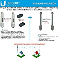 Ubiquiti BulletM2-HP BM2-HP 2pack + Antenna 2.4GHz 6dBi Omnidirectional 2pack