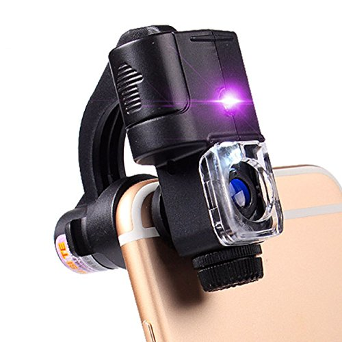 Illuminated Magnifiers 90x with Led Light Uv Light iPhone Microscope Jewelry Jade Stamp Identification Tool Money Detector Magnifying Glass