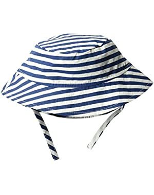 Baby Boys UPF 50+ Bucket Hat with Chin Straps,