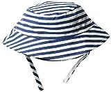 Flap Happy Baby Boys UPF 50+ Bucket Hat with Chin Straps, Hampton Stripe, XL