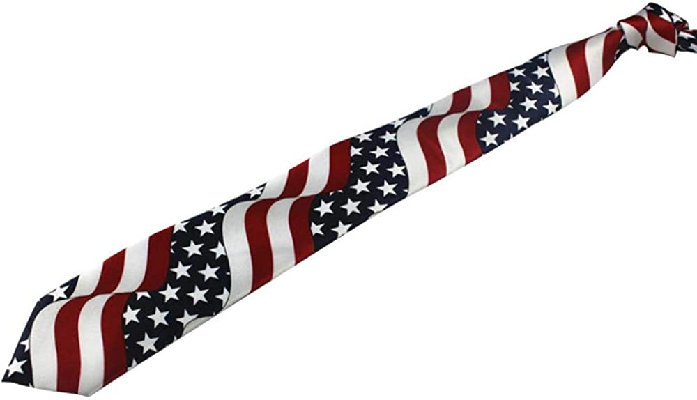 T Dress and tie Mens American flag and tie Mens business 8cm 846