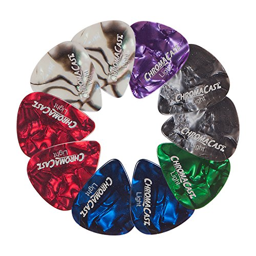 ChromaCast CC-CP-LIGHT-10PK(A) Pearl Celluloid Guitar Picks, 10-Pack, Light