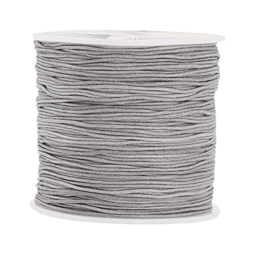 Mandala Crafts Blinds String, Lift Cord Replacement from Braided Nylon for RVs, Windows, Shades, and Rollers (0.8mm, Gray)