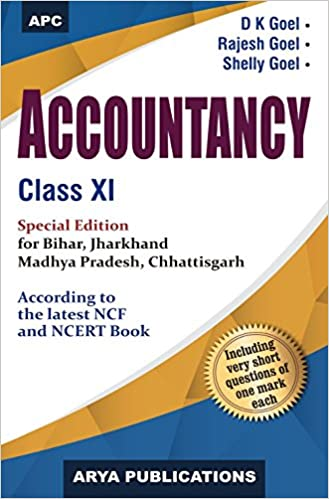 Accountancy, Class- XI for Bihar, Jharkhand, Madhya Pradesh, Chhattisgarh