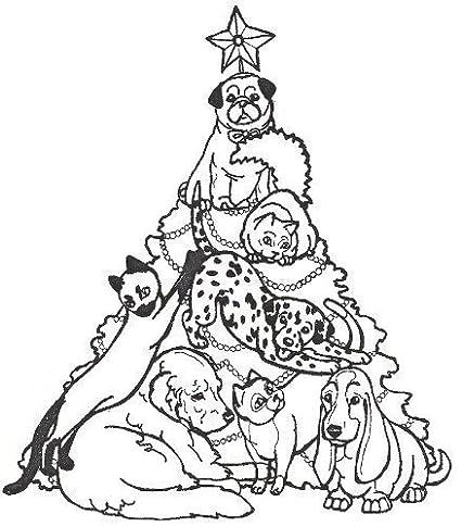 amazon dog rubber st christmas tree of pets 1j size 3 1 2 X 4 Size dog rubber st christmas tree of pets 1j size 3 1