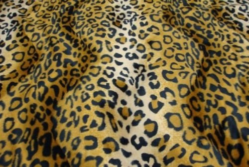 Upholstery Faux fur Leopard Gold fabric 58