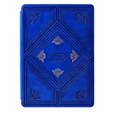 Mosiso Carmen Retro Book Style Smart PU Leather Case Cover for iPad Air 2 (2nd Gen.) Slim-Fit Multi-angle Stand Sleeve, Blue